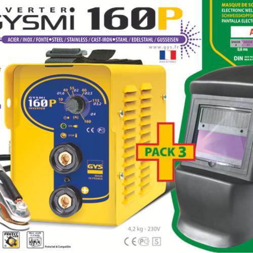 ARC WELDER GYS GYSMI 160P E Inverter Welder FREE HEADSHIELD