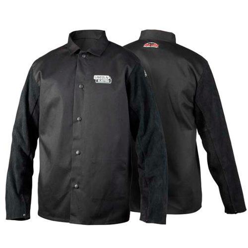 Traditional split leather sleeved jacket