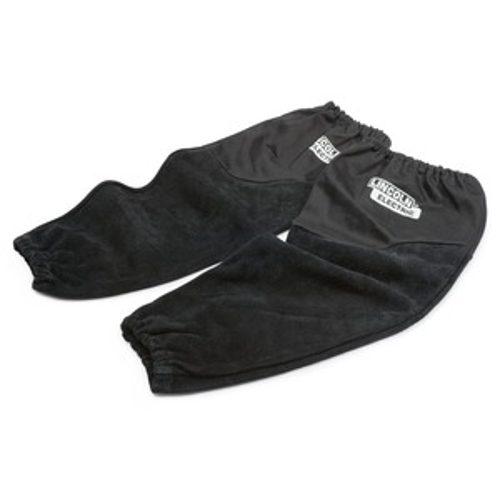 Split leather flame retardant sleeves