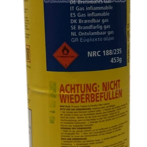 MAP-PLUS Cylinder Yellow gas Propane Mixture like Acetylene