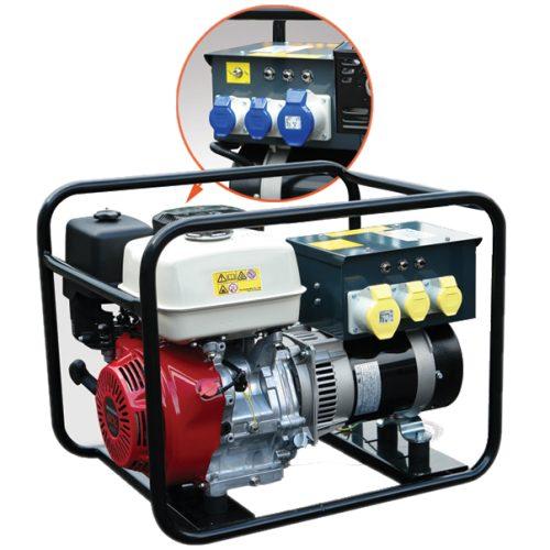 Generator MG6500 MHM – Gen 6.5kva 230/110v Honda 3000rpm