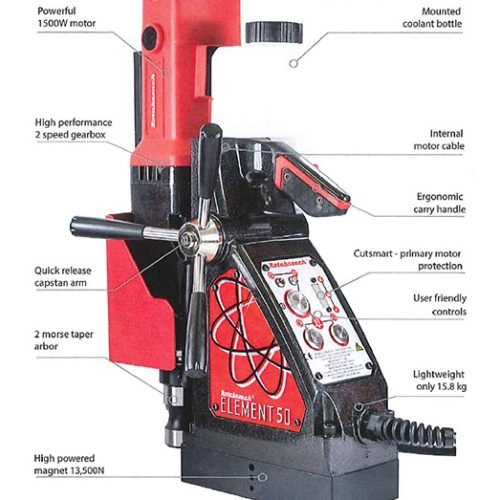 Rotabroach Element 50 HIgh Speed Drill 1500W (FREE Accessories Worth £203)