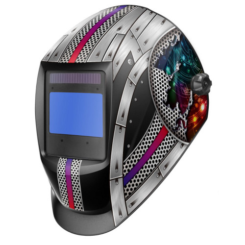 Welding Helmet (Tru-Colour Cartridge)-Like Lincoln Headshields 3350 -Hard Metal -Auto Darkening